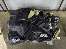 BOX OF 15 BLACK DOG COATS (VARIOUS SMALLER SIZES)