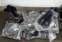 10 PAIRS OF KIDS BOOTS