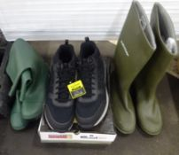 X2 PAIRS OF WELLIES & SIZE 14 SKETCHERS SHOES
