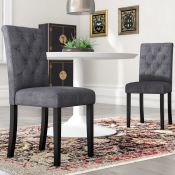 Brick and Barrel Upholstered Dining Chair (Set of 2) - RRP £96.99