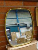 Rustic Gold Framed Wall Mirror
