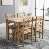 Danny Dining Set with 4 Chairs - RRP £169.99