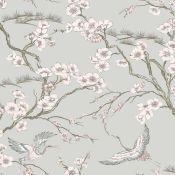Japan Floral and Fauna Tropical 10m x 52cm Wallpaper Roll x 2 - RRP £21.99 Per Roll