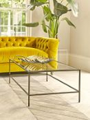 Damaged Villette Coffee Table - Burnished Brass - RRP £525.00 (no glass top)