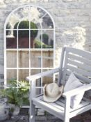 Outdoor Arched Window Mirror - RRP £195.00 Grey not white