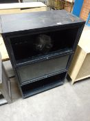 Damaged Black Metal Cabinet