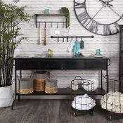 Industrial Iron Console Table - RRP £795.00 (minor marks on top)