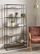 Textured Topped Metal Shelf Unit - Gold RRP £925.00 (one bar slightly bent)