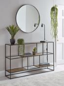 Textured Topped Metal Storage Console - Gold - RRP £695.00