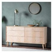 MILANO 6 DRAWER CHEST - RRP £858.95 (2 drawers not closing fully)