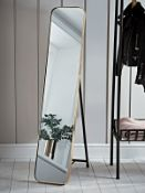 Aurum Brass Full Length Mirror - RRP £175.00 (damage to the frame)