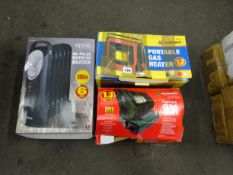 X2 PORTABLE GAS HEATERS & X1 OIL FILLED HEATER