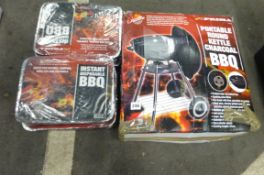 X8 INSTANT DISPOSIBLE SETS & PORTABLE ROUND KETTLE BBQ