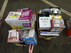 X2 BOXES OF KETTLE, 12V BATTERY CHARGER,AIR COOLER,3 LITRE AIR POT ETC