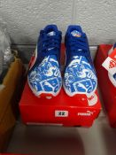 PAIR OF SIZE UK 4.5 PUMA SUPERMAN TRAINERS