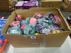 BOX OF VARIOUS COLOURS OF SELF ADHERANT BANDAGE TAPE
