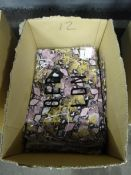 BOX OF 12 NEW DOUBLE V-NECK PINK SNAKE LONG DRESSES (S/M)