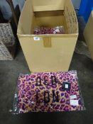 BOX OF 12 NEW DOUBLE V-NECK LEOPARD LONG DRESSES (S &M)