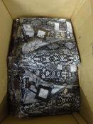 BOX OF 12 NEW BLACK/GREY ZIP FRONT BATWING TOPS (S/M)
