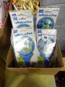 BOX OF 100 DISNEY MONSTER UNI INFLATIBLE BALLOONS