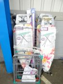 QTY OF IRONING BOARDS, CLOTHES AIRERS & ODDS