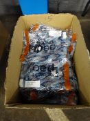 BOX OF 15 BLUE FRONT TIED JUMP SUITS (MOSTLY SIZE 10)