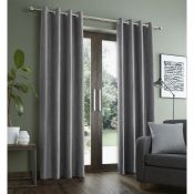Faux Suade Eyelet Blackout Curtains - RRP £70.00