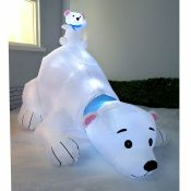 180cm Pre-Lit Polar Bear Inflatable Christmas Decoration - RRP £78.99