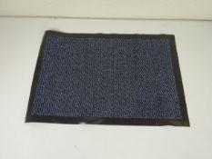 Blue black doormat