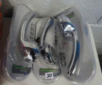 X5 WICKS 3 MODE SHOWER HEADS CHROME EFFECT