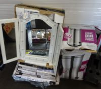 S/S PEDAL BIN & QTY OF LIGHT UP MIRRORS