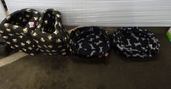 QTY OF PET BEDS & X2 PET CAVES
