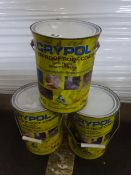 X3 TINS OF WATER PROOF ROOF COATING