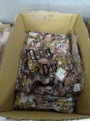 BOX OF 12 DOUBLE V NECK PINK SANKE SKIN LONG DRESS (SIZE S/M)