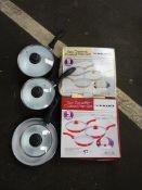 X2 CERAMIC COATED PAN SETS & QTY OF PANS, POTS & LIDS