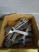 BOX OF 10 LG ADJUSTIBLE WRENCHES