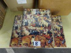 18 DOG DESIGN NOTE BOOKS