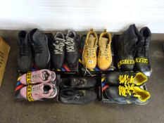 X7 PAIRS OF WORK SHOES & BOOTS