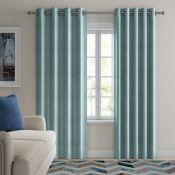 Striplin Eyelet Room Darkening Curtains - RRP £110.00