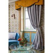 Deco Heron Tape Pencil Pleat Room Darkening Curtains - RRP £112.99