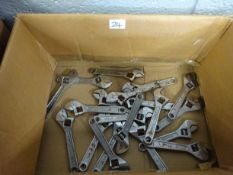 BOX OF 20 SM ADJUSTIBLE SPANNERS