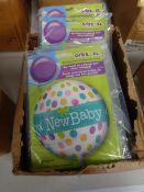 BOX OF 100 NEW BABY BALLOONS