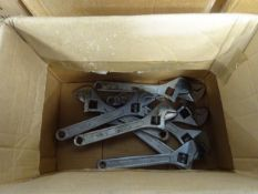 BOX OF 10 LG ADJUSTIBLE SPANNERS