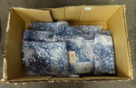 BOX OF 10 BLUE FLORAL TIEDYE SMOCKS