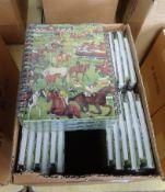 BOX OF 36 HORSE DESIGN ADDRESS BOOKS