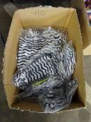 BOX OF 10 BLACK/WHITE SWIMMING SHORTS (VAR SIZES)