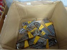 BOX OF 10 SETS OF ALLEN KEYS