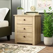 Weiss 3 Drawer Bedside Table - RRP £73.99
