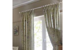Mina Cotton Pencil Pleat Room Darkening Curtains - RRP £70