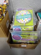 BOX APPROX 100 NEW BABY LARGE BALLOONS